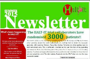 The HALT-IT Summer 2015 newsletter is now available online